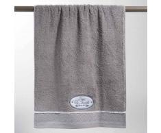 Maisons du Monde Toalla de baño gris de algodón 50 × 100 cm JEANNE