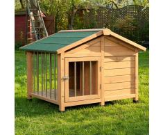 zooplus Exclusive Caseta de madera Sylvan Special para perros - M: 119 x 87 x 86 cm (L x An x Al) (* 2 paquetes)