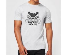 Disney Camiseta Disney Mickey Mouse Efecto Espejo - Hombre - Gris - 5XL - Gris
