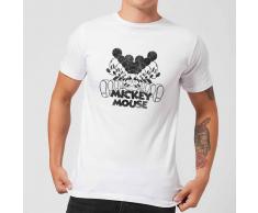 Disney Camiseta Disney Mickey Mouse Efecto Espejo - Hombre - Blanco - 3XL - Blanco