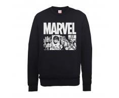 Marvel Sudadera Marvel Comics Azulejos Acción - Hombre - Negro - S - Negro