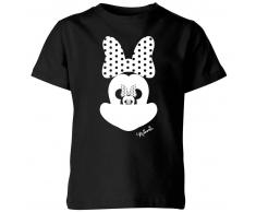 Disney Camiseta Disney Mickey Mouse Minnie Ilusión Espejo - Niño - Negro - 7-8 años - Negro