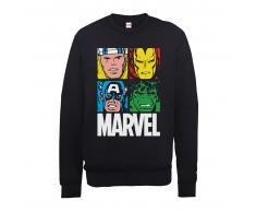 Marvel Sudadera Marvel Comics Azulejos Multicolor - Hombre - Negro - XXL - Negro