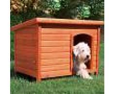 Trixie Natura Caseta de madera de techo plano - M: 85 x 60 x 58 cm (L x An x Al)