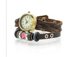 Diablo picanteFemarviShunga Reloj femenino de estilo Vintage Diamond Rosa