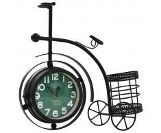 vidaXL Reloj de pared doble cara con forma de triciclo vintage