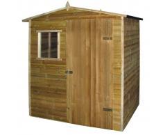 vidaXL Caseta-cabaña de jardín de madera de pino impregnada 1,5x2 m