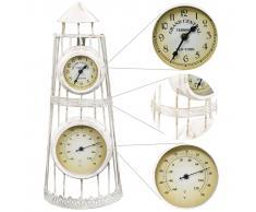 vidaXL Reloj de pared con termómetro vintage