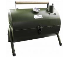 Gusta Barbacoa y ahumador de carbón 2-en-1 verde 03251040