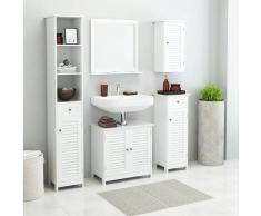 vidaXL Conjunto de muebles de baño 5 piezas blanco