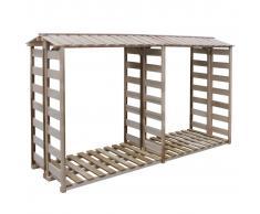 vidaXL Caseta para leña 300x100x176 cm madera de pino impregnada