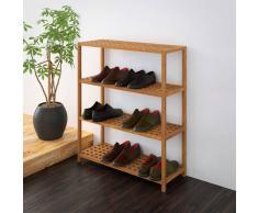 vidaXL Zapatero 69x26x81 cm madera maciza de nogal