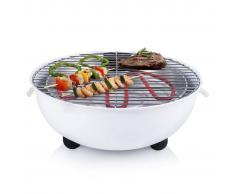 Tristar Barbacoa eléctrica de mesa BQ-2882 1250 W 30 cm blanca