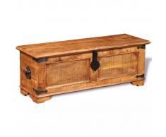 vidaXL Baúl de almacenamiento de madera de mango rugosa