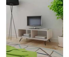 vidaXL Armario de TV Look Contemporáneo 90x39x38,5 cm Madera de Color Gris