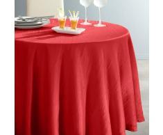 La Redoute Interieurs Mantel redondo de poliéster arrugado CERYAS rojo