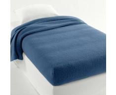 La Redoute Interieurs Manta semifunda nórdica 350g/m² 100% lana virgen woolmark azul