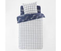 La Redoute Interieurs Funda nórdica reversible 100% algodón MAX azul