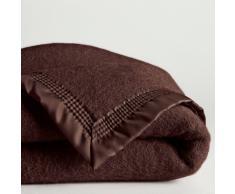 La Redoute Interieurs Manta 350 gr/m² pura lana virgen Woolmark marrón