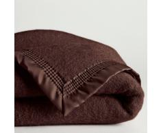 La Redoute Interieurs Manta 600 g/m² pura lana virgen Woolmark marrón