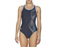 ARENA Bañador con tirantes, para piscina azul