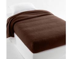 La Redoute Interieurs Manta semifunda nórdica 350g/m² 100% lana virgen woolmark marrón