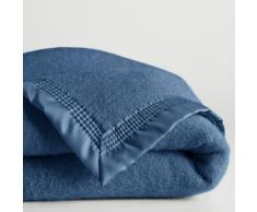 La Redoute Interieurs Manta 600 g/m² pura lana virgen Woolmark azul