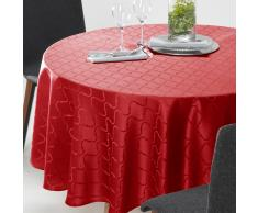 La Redoute Interieurs Mantel redondo de jacquard adamascado SALOMÉ rojo