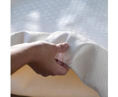 CALIGOMME Mantel protector blanco para mesa redonda blanco