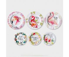 SuperStudio Platos Decorativos SPRING -Set de 6 unidades-