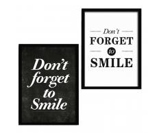 SuperStudio 2 Cuadros con Marco 33x43: DONT FORGET + DONT FORGET TO SMILE