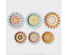 SuperStudio Platos Decorativos SOLEIL -Set de 6 unidades-