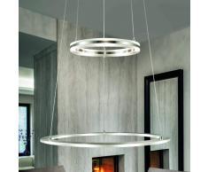B-LEUCHTEN Lámpara colgante LED Mica II altura regulable