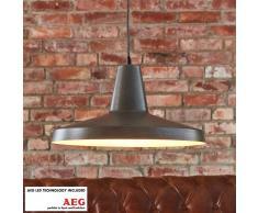 Lampenwelt.com Lámpara colgante LED Marret metálica, industrial