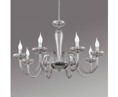 Eglo Elegante lámpara de araña Falcado de cristal