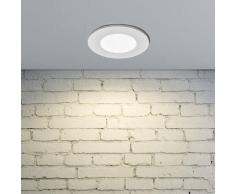 LAMPENWELT.COM Lámpara empotrada LED Kamilla en blanco, IP65