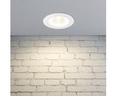 LAMPENWELT.COM Tadeus, lámpara empotrada LED anillo blanco, IP65