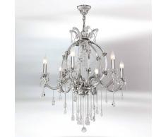 RIPERLamP Valiosa lámpara de araña de cristal Trina 6 brazos