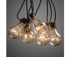 KONSTSMIDE Cadena de luces LED Biergarten, ámbar
