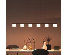 Philips Lámpara colgante lineal LED Byzantin en cromo