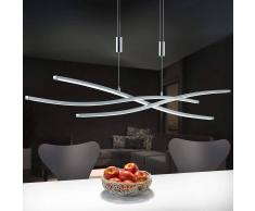 B-LEUCHTEN Lámpara colgante LED Melide regulable, atenuable