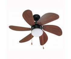 Lorefar (FARO) Ventilador de techo de color marrón oscuro PALAO