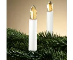 Hellum Moderna guirnalda LED Riffelkerzen - 30 velas