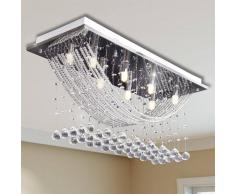 vidaXL Lámpara de techo con lágrimas de cristal 8 x G9 29 cm