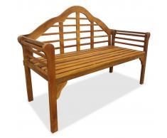 vidaXL Banco de jardín de 2 plazas de madera maciza de acacia