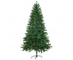 vidaXL Árbol artificial de Navidad con hojas realistas 150 cm verde