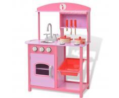 vidaXL Cocinita de juguete de madera 60x27x83 cm rosa