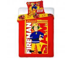 Fireman Sam Set de funda de edredón infantil 200x140 cm DEKB252051