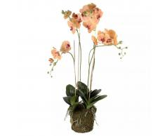 Emerald Orquídea artificial con musgo naranja 419150