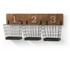 Organizador pared industrial basket